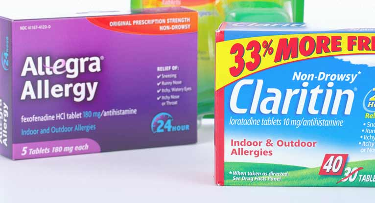 Allegra, Claritin, Benadryl