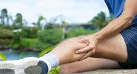Man facing Leg Pain Stretching  during exersice