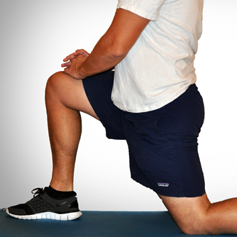 stretch hip flexors to help with back pain