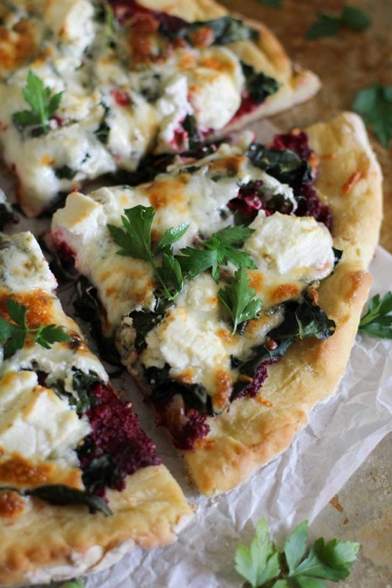 Beet Pesto Goat Cheese Pizza Recipe