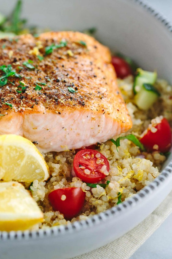 Dinner Recipes: Mediterranean Spiced Salmon and Vegetable Quinoa