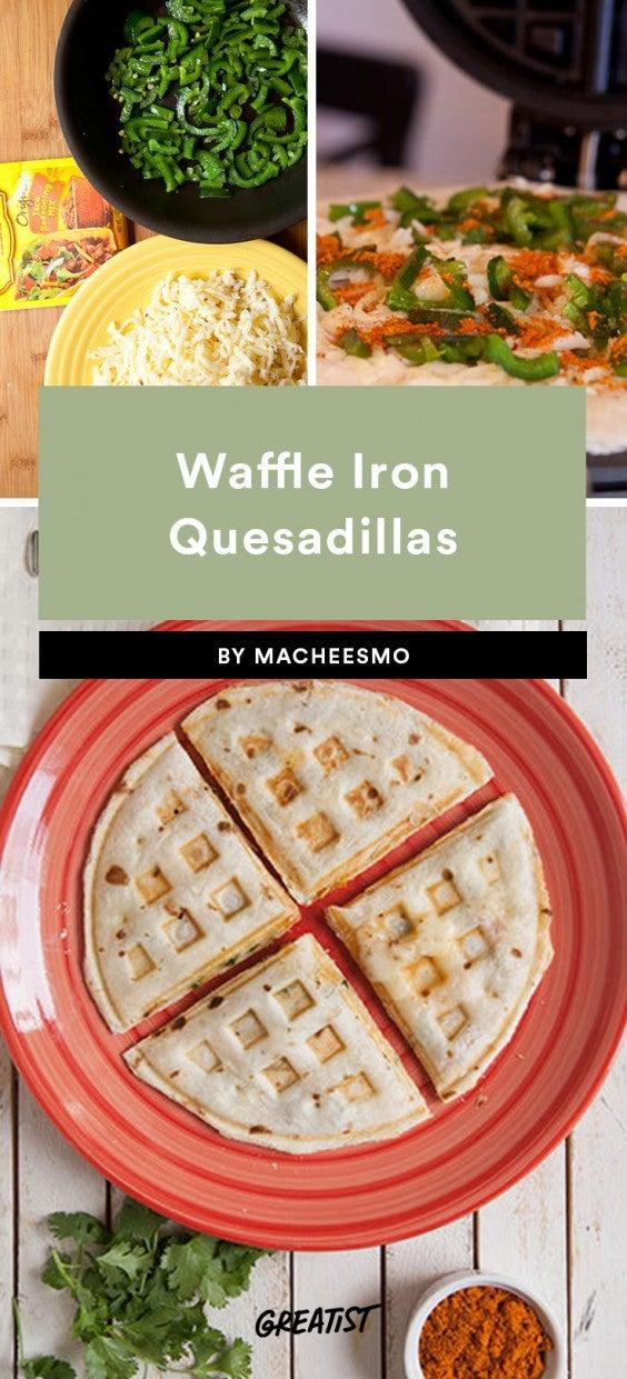 Waffle Iron Quesadillas
