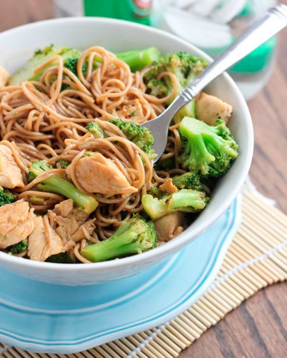 Healthy Dinner Recipes for Beginners: Chicken Soba Noodle Stir-Fry by Bake Your Day