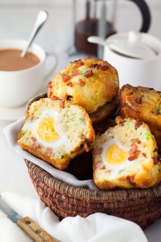 13. Egg and Bacon Breakfast Muffins