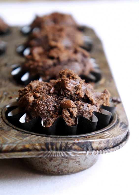 16. Whole-Wheat Triple Chocolate Muffins With Blackberries