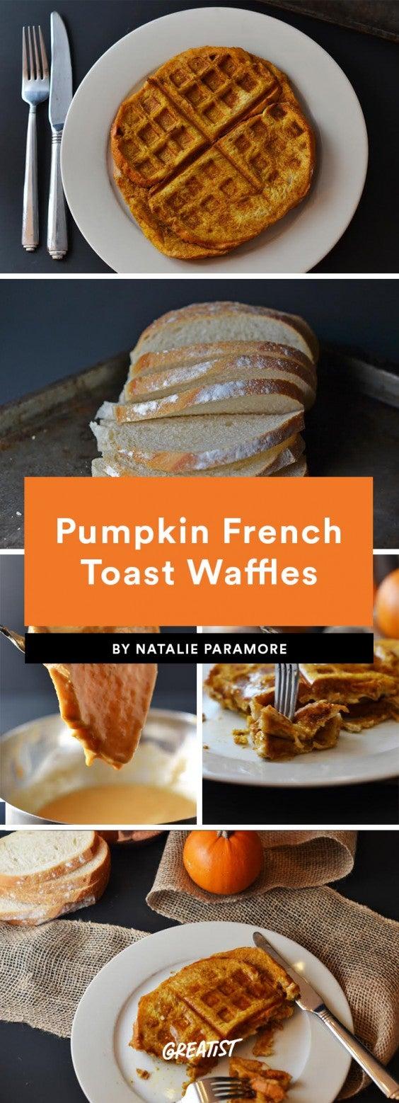 Pumpkin French Toast Waffles