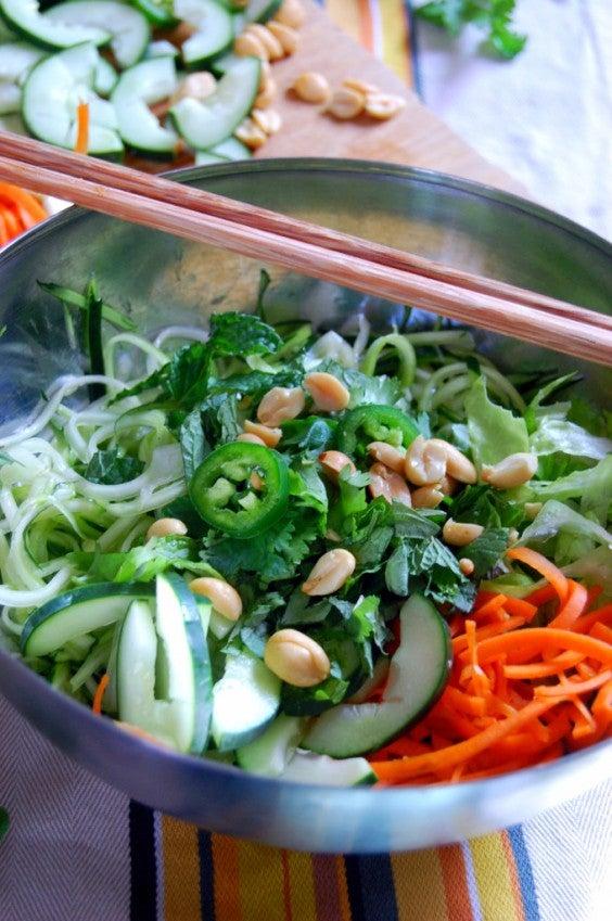 One Pot Meals: Vietnamese Zucchini Noodle Bowl