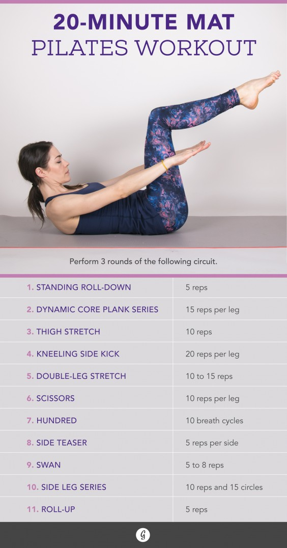 Pilates Workouts: The 20-Minute Pilates Exercise for Any
