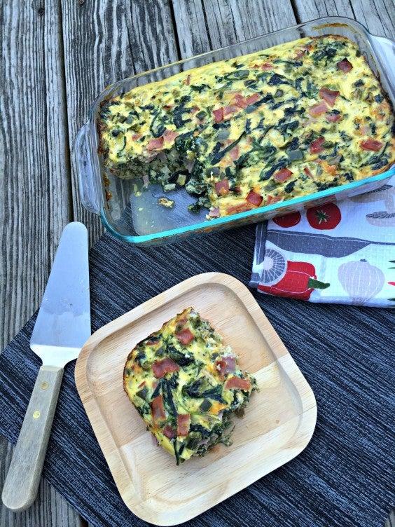 Greens Recipe: Ham and Vegetable Breakfast Casserole