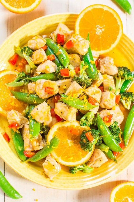 5. One-Skillet Orange Chicken With Vegetables
