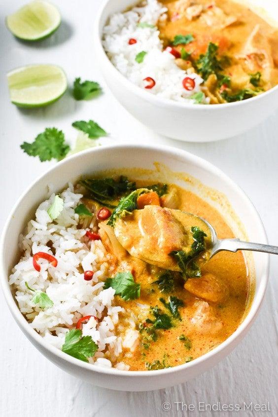 6. Thai Chicken Curry