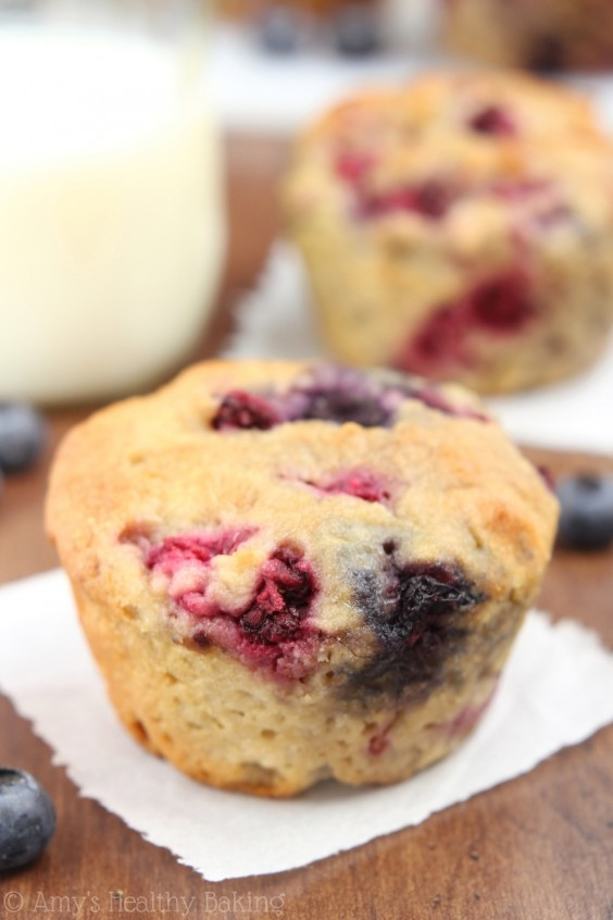 6. Maple Mixed Berry Muffins