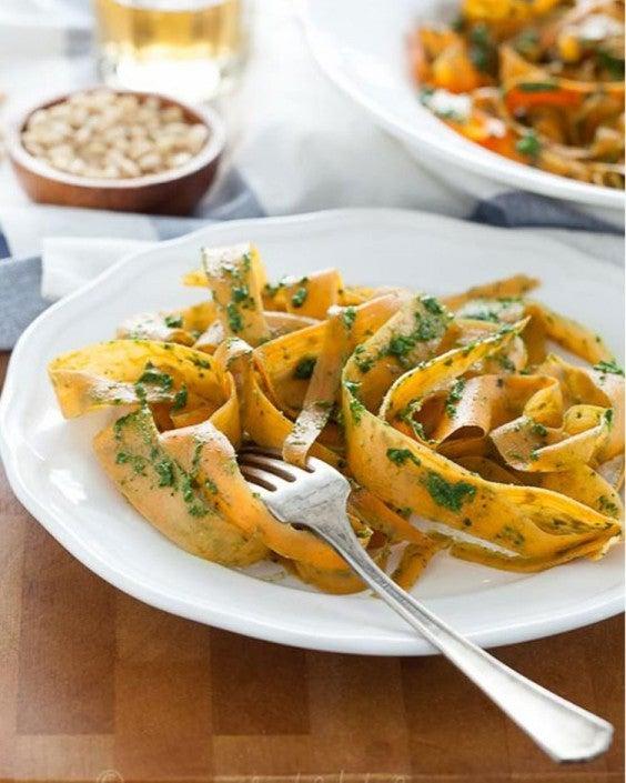 Sweet Potato Noodles with Kale Pesto