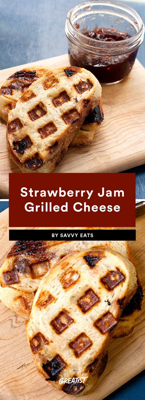 Strawberry Jam Grilled Cheese
