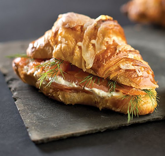 9. Smoked Salmon Sandwich on a Croissant