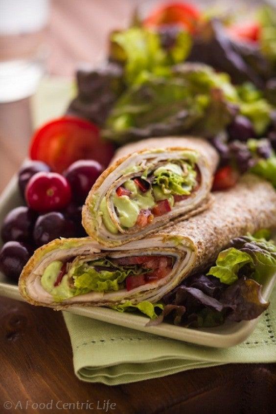 9. Turkey Tortilla Wrap With Avocado Cream