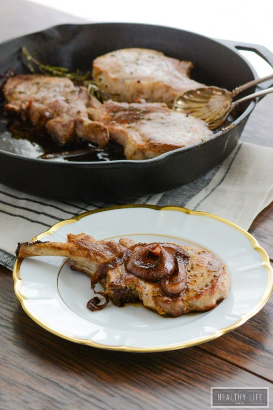 13. Balsamic Roasted Pork Chops