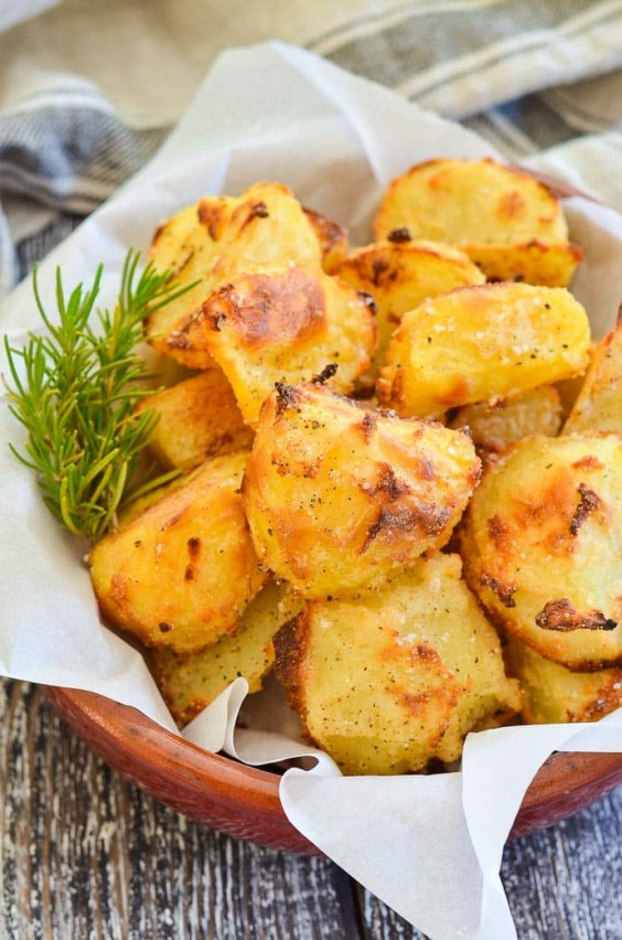13. No-Oil Crispy Roasted Potatoes