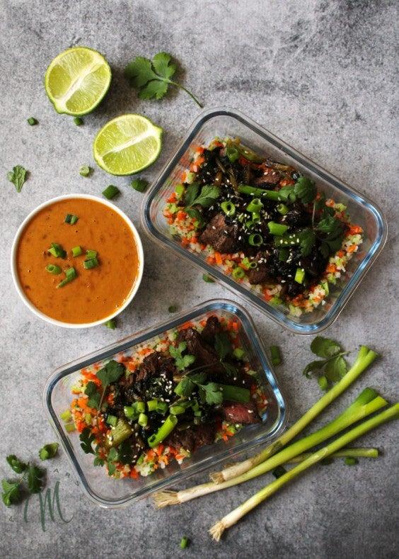 7. Meal-Prep Vietnamese Beef and Riced Veggies