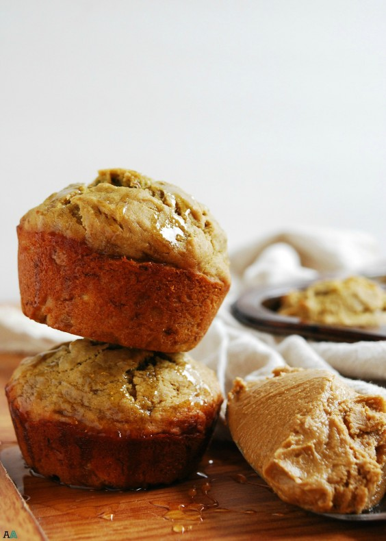 4. Sunbutter, Honey, and Banana Muffins