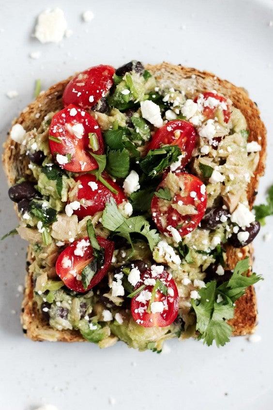 8. Black Bean Avocado Tuna Salad Sandwiches