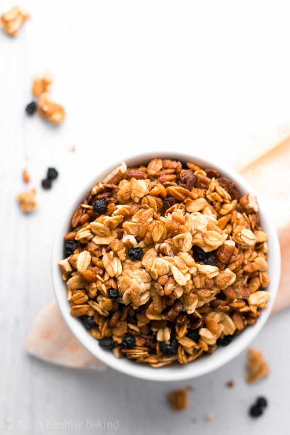 1. Healthy 5-Ingredient Slow Cooker Granola