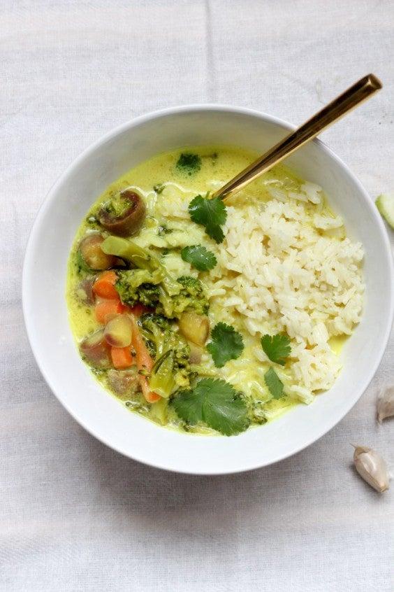 7. Vegan Turmeric and Coconut Milk Vegetable Bowl