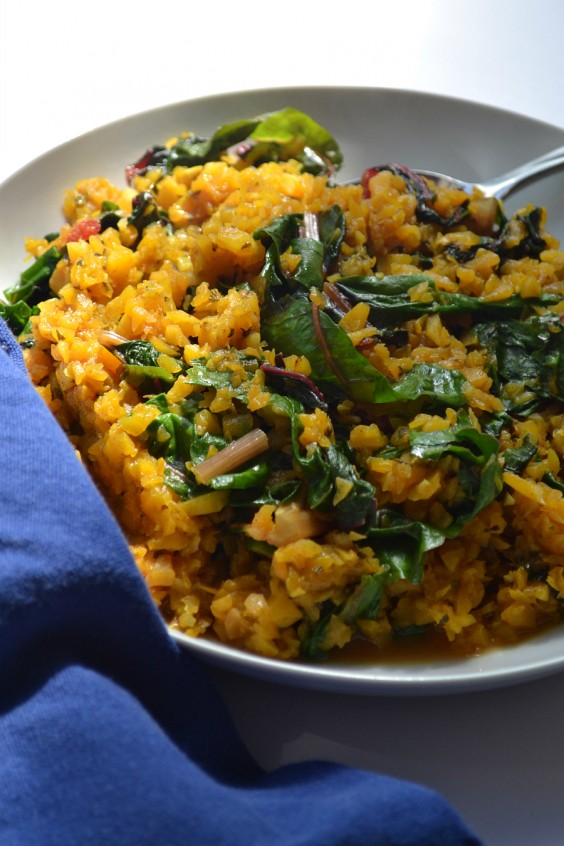 8. Breakfast Risotto With Greens