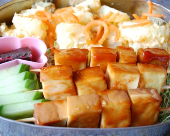 Baked Tofu and Potato Salad