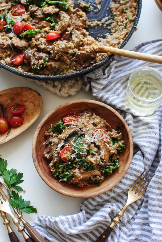 9. Steel-Cut Oats Risotto With Mushrooms and Chicken Sausage