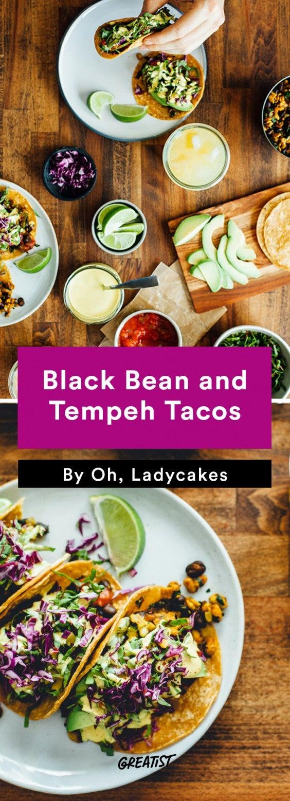 oh ladycakes: Black Bean and Tempeh Tacos