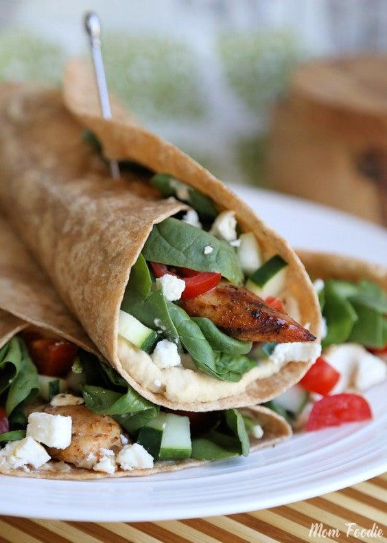 13. Mediterranean Grilled Chicken Wrap