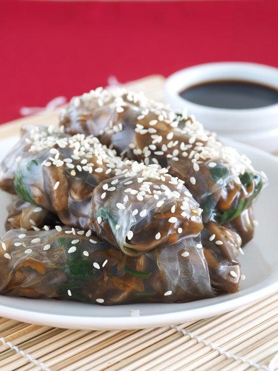 18. Mushroom Rice Paper Rolls