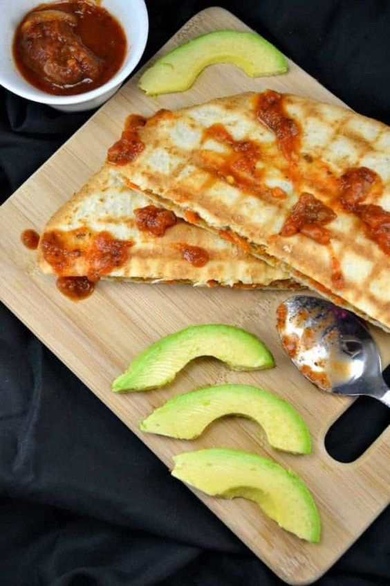 16. 10-Minute Vegan Quesadillas
