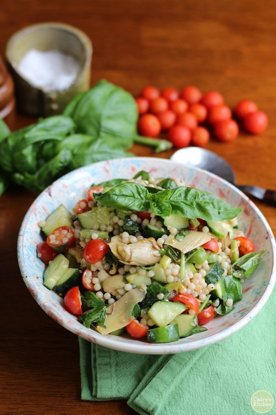 10. Israeli Couscous Salad With Artichokes and Olives