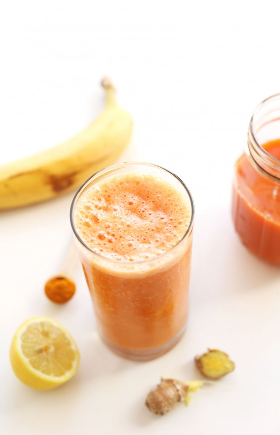 1. Carrot Ginger Turmeric Smoothie