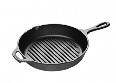 1. Lodge Cast Iron 10.5-Inch Square Cast Iron Grill Pan