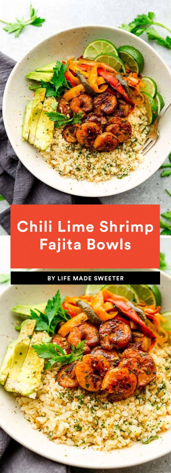 2. Chili Lime Shrimp Fajita Bowls