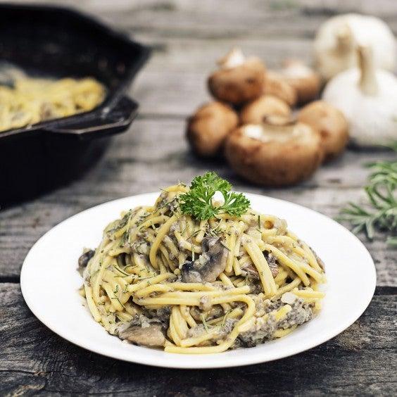 16. Chia One-Pot Creamy Mushroom Pasta