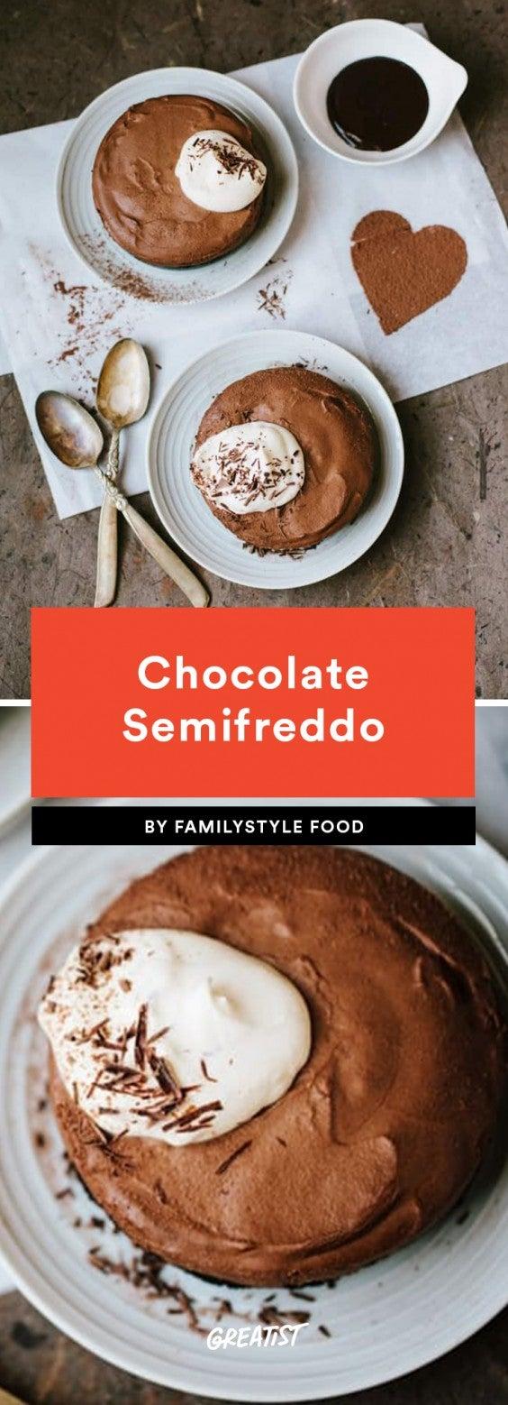 1. Chocolate Semifreddo