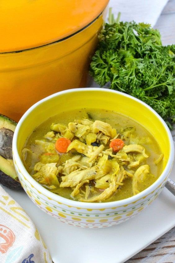 11. Turmeric Chicken No-Noodle Soup