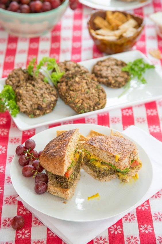 12. Plant Strong Lentil Chia Burgers