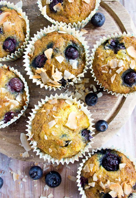 Blueberry Coconut Flour Muffins Recipe