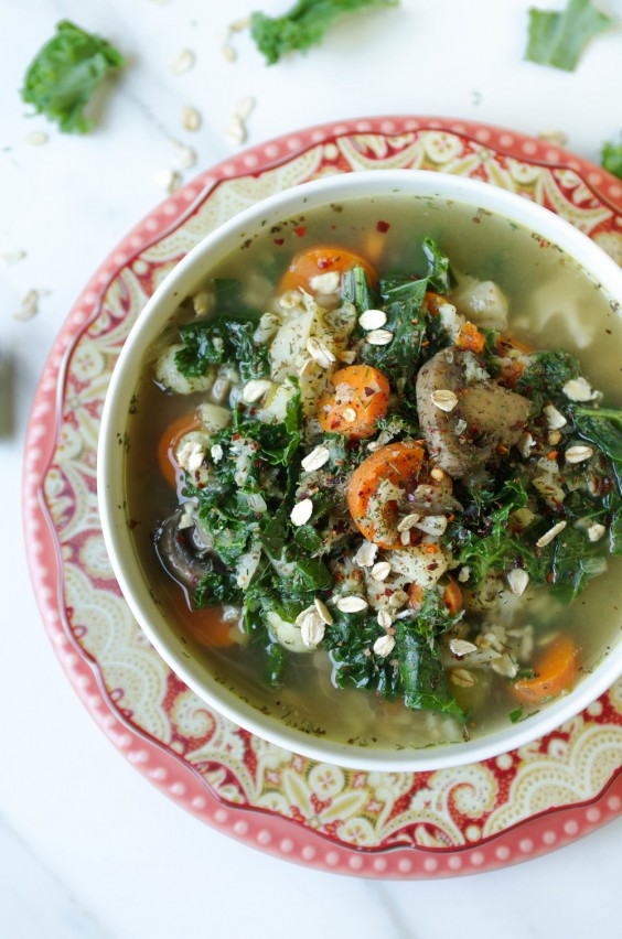 15. Winter Vegetable and Oat Soup