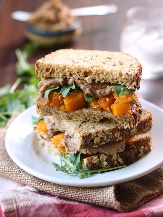 15. Roasted Butternut Squash Sandwiches With Balsamic White Bean Spread
