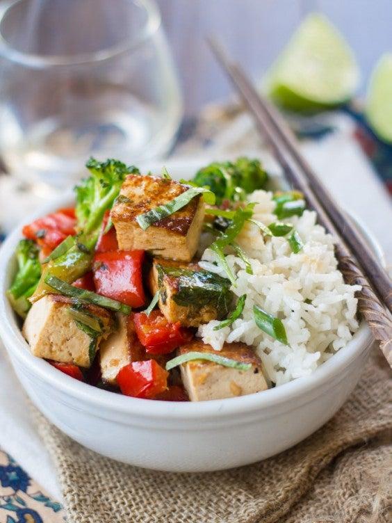 4. Thai Basil Tofu Stir-Fry
