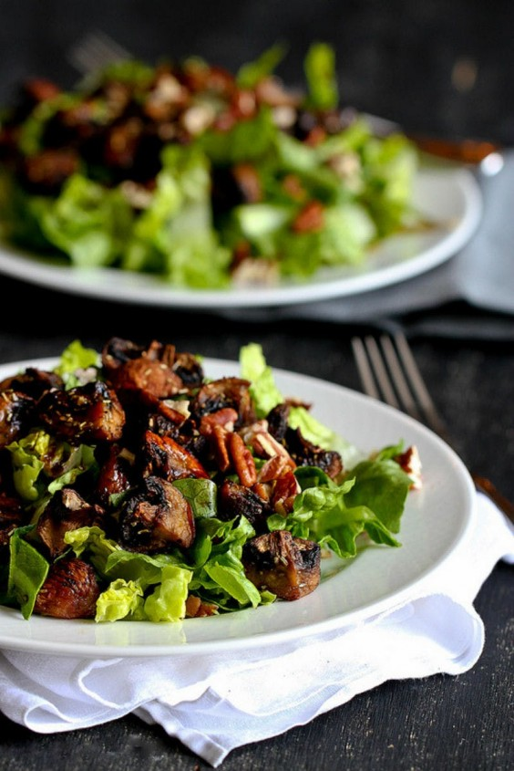 12. Roasted Mushroom and Romaine Salad