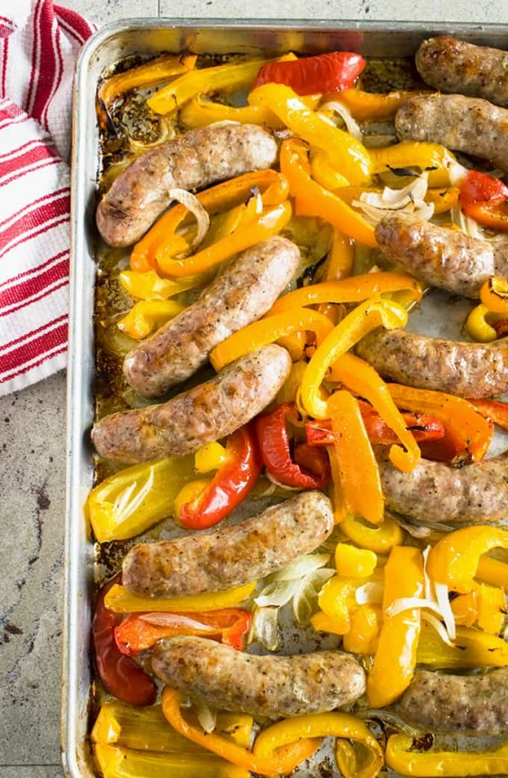 2. Easy Sausage and Peppers