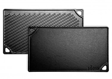 2. Lodge Cast Iron Double Play Reversible Grill/Griddle