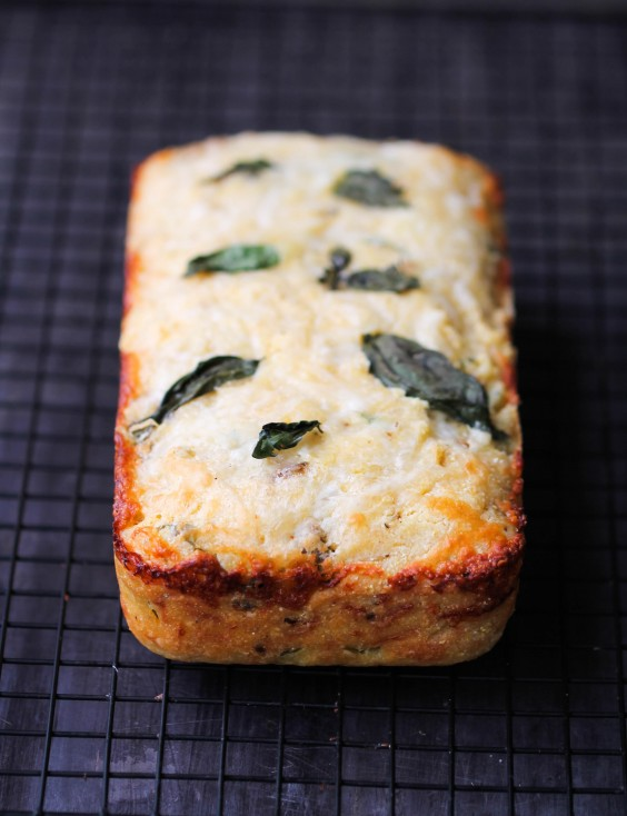 14. Corn Bread With Sun-Dried Tomatoes, Basil, and Cheese